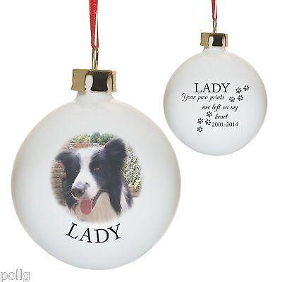 Spaniel Shepherd Tree Bauble Ornament Birthday Tag Dog Christmas Gift Tag