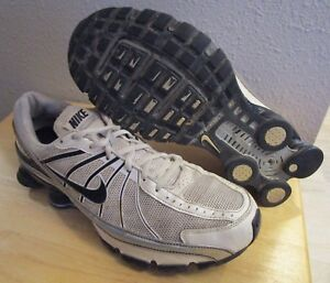 4953f9c5bee RARE 2008 Nike Shox Turbo+ VII Plus White Black Silver Men s Running ...