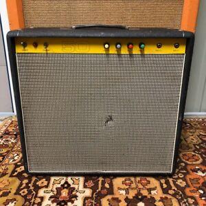 Vintage-1970s-Carlsbro-50-Top-50w-Combo-Amplifier-Amp-w-Power-Tone-60-Speaker