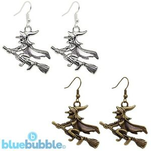Bluebubble-WITCH-OF-THE-WEST-Earrings-Halloween-Funky-Fancy-Dress-Gothic-Magic