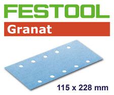 50 FESTOOL Schleifstreifen Granat 115 x 228mm 10Lo P40-P80 *498944,498945,498946