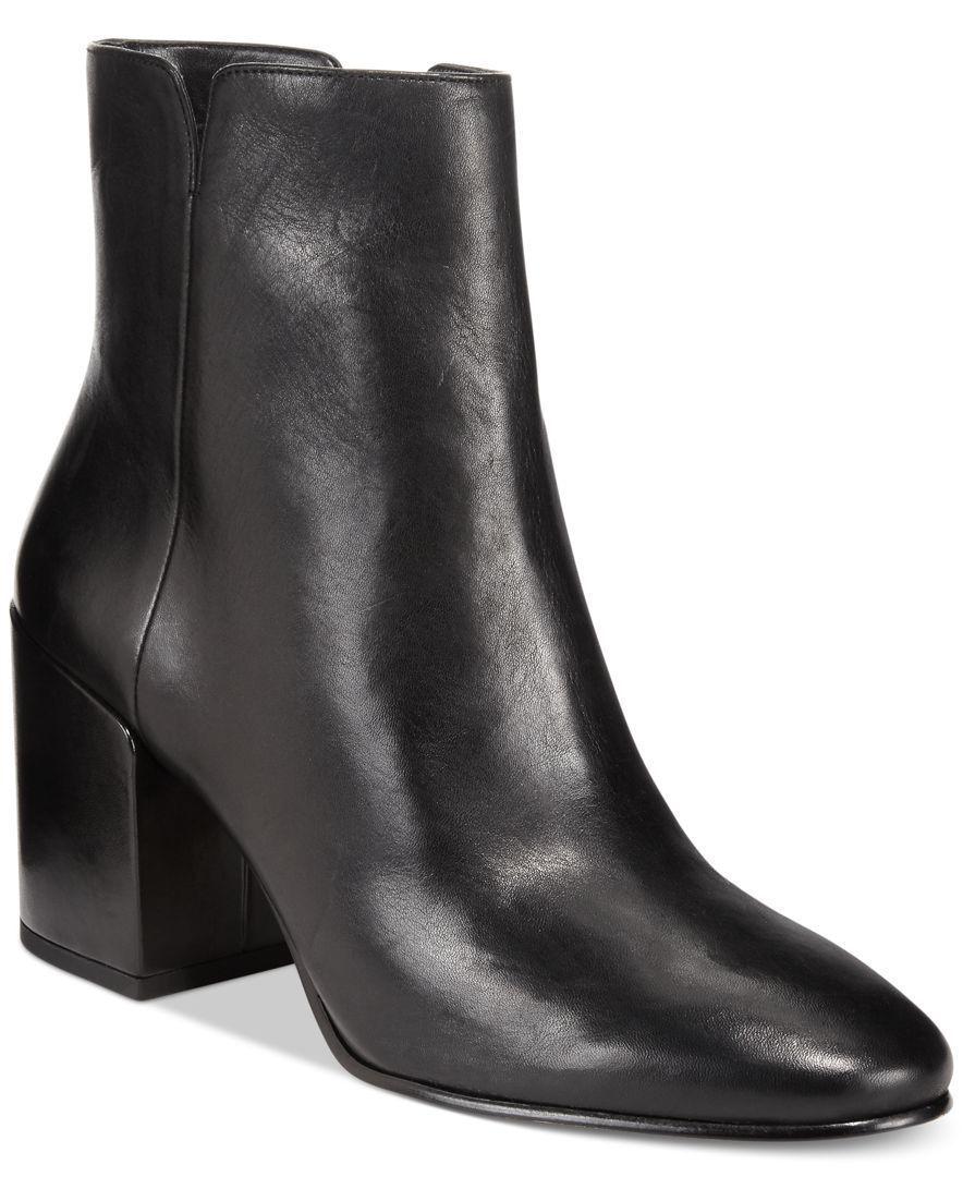 PVP  Aldo Talla 7 8 40 41 Negro Negro Negro de Cuero Real Sully Mediados Bloque Talón Tobillo botas  mejor oferta