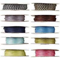 100 Feet Round Weaved Nylon Cord Cording For Jewelry Knotting Beads Thin - Thick