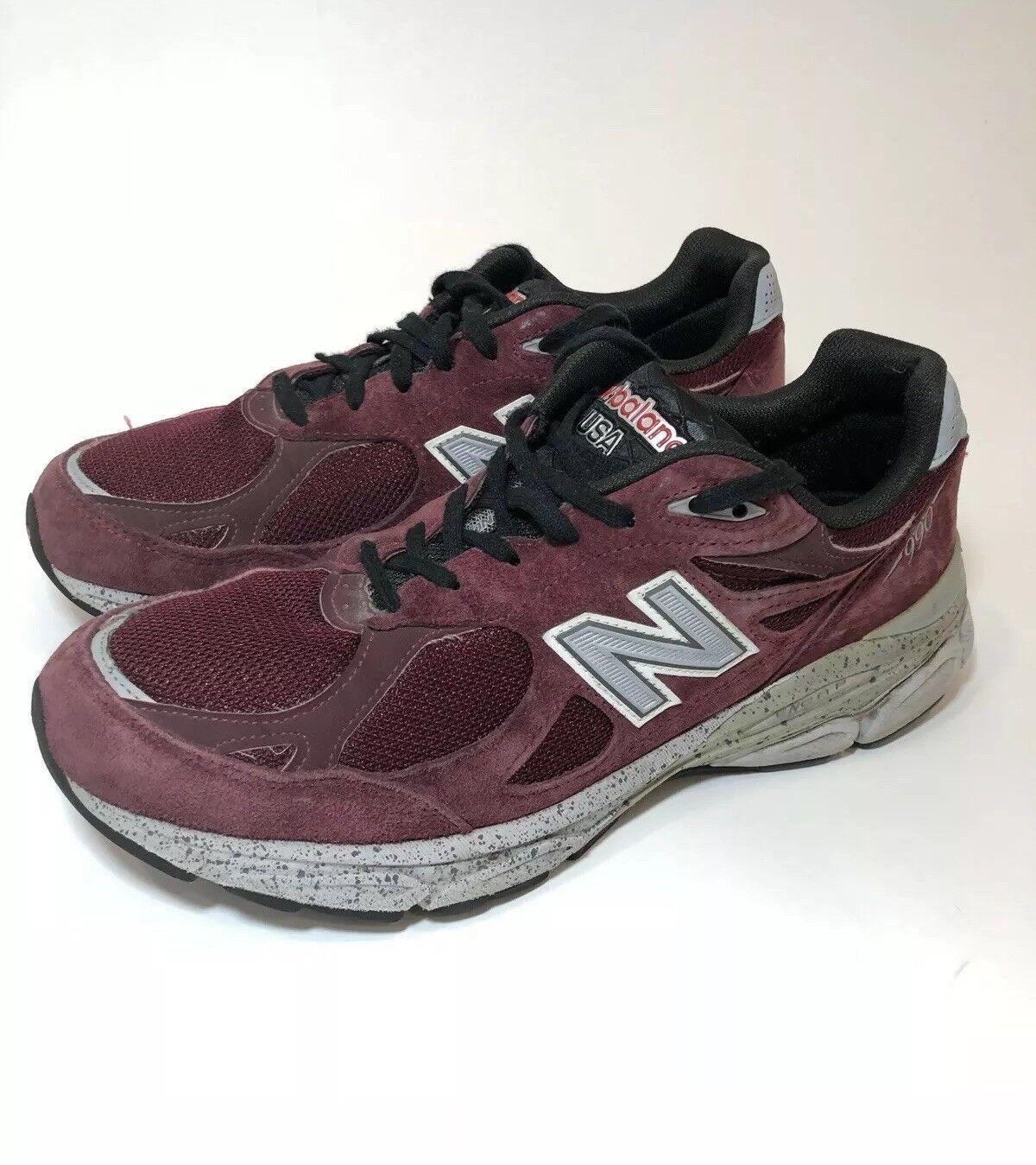 NEW BALANCE 990 Burgundy Running Sneakers Mens Size 10.5 M990BU3