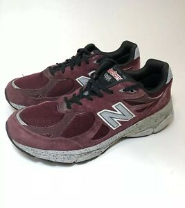 a631395fa0636 Details about NEW BALANCE 990 Burgundy Running Sneakers Mens Size 10.5  M990BU3