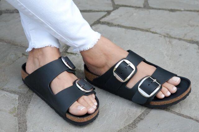 sneakers for cheap 82035 f3b9e Birkenstock Sandals ARIZONA BIG BUCKLE black leather narrow 1011075 NEW