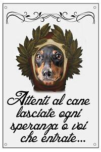 BASSOTTO-DANTE-ALIGHIERI-TARGA-METALLO-CARTELLO-IDEA-REGALO-CANE