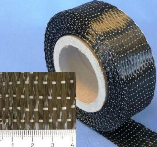 25 lfm Carbongewebeband 340g/m² Unidirektional HP-U340C/050 5cm Modelbau CfK CfK CfK e38289