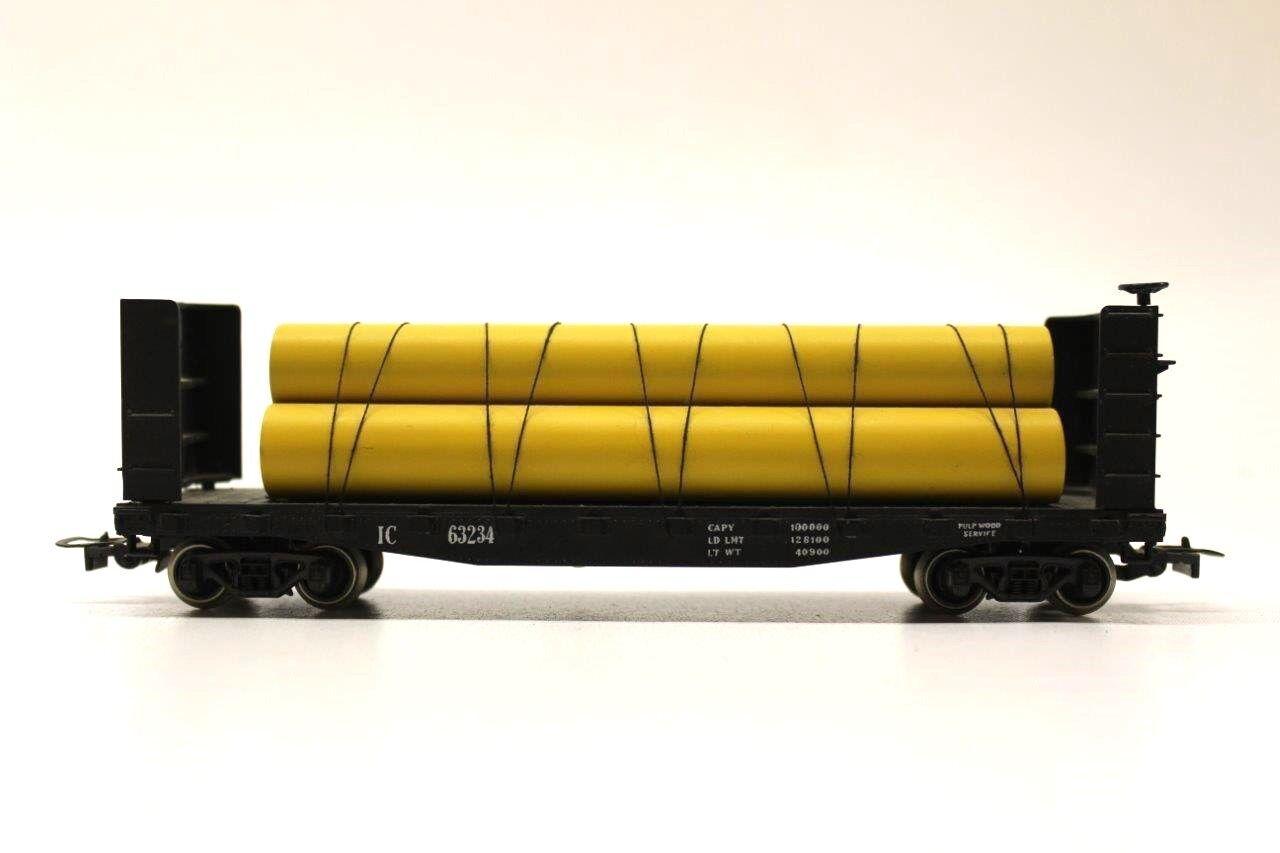 Rivarossi 2206 Illinois Central Flat Car Tube Wagon HO Gauge Railway RARE V25