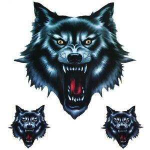 3x-Wolfskopf-Wolf-Aufkleber-Sticker-Auto-Motorrad-Decal-Dekor-Tuning-Die-Cut-Set