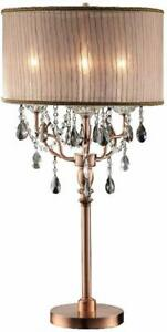 Modern-Rose-Gold-Crinkled-Pleated-Shade-Metal-Base-Crystal-Table-Lamp-32-034-H