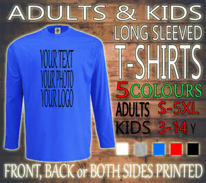 PERSONALISED-UNISEX-ADULTS-STAG-HEN-KIDS-LONG-SLEEVED-TEE-T-SHIRT-NEW-CUSTOM