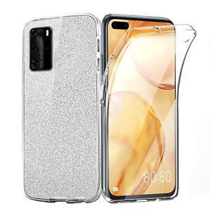 Handy Hülle für Huawei P40 Lite Pro TPU Glitzer Schutzhülle Handy Tasche 360°