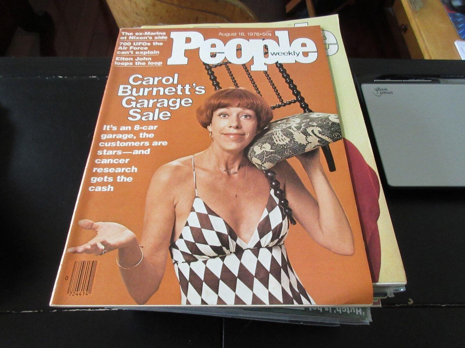 People Weekly , August 16 ,1976 , Carol Burnett , Elton