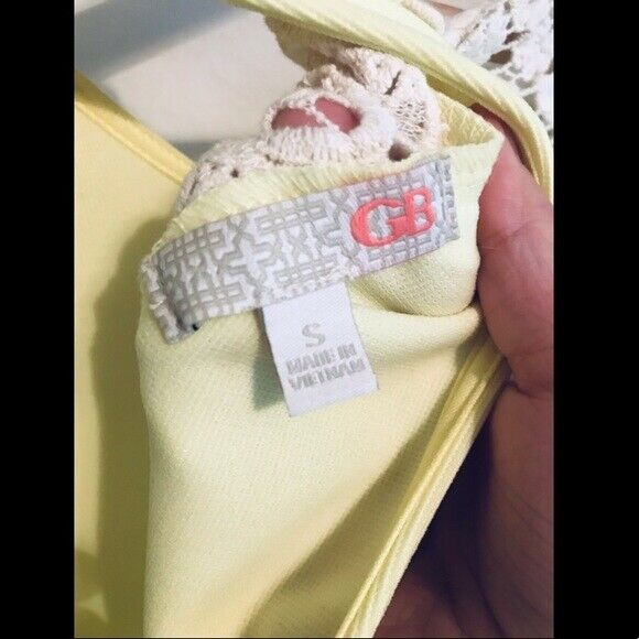 Gianni Bini Bright Yellow Aline Dress. Size Small - image 4