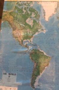 Environmental-Graphics-Visual-Effects-World-Map-Wall-Mural-New-8x13-Feet