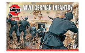 AIRFIX-1-76-WW1-GERMAN-INFANTRY-VINTAGE-MODEL-KIT-SOLDIERS-WWI-A00726V