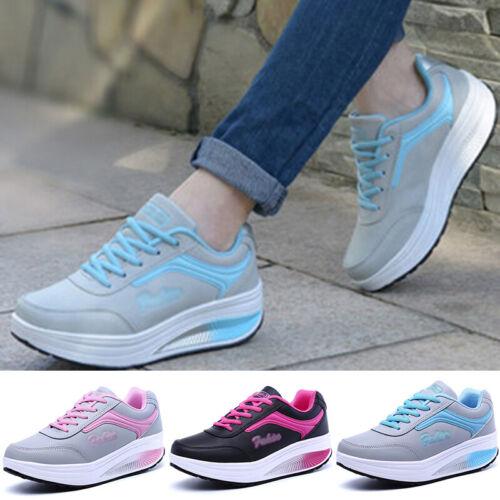 Schuhe Athletisch Wandern Atmungsaktiv Sportstudio Keilabsatz Leder Sneakers