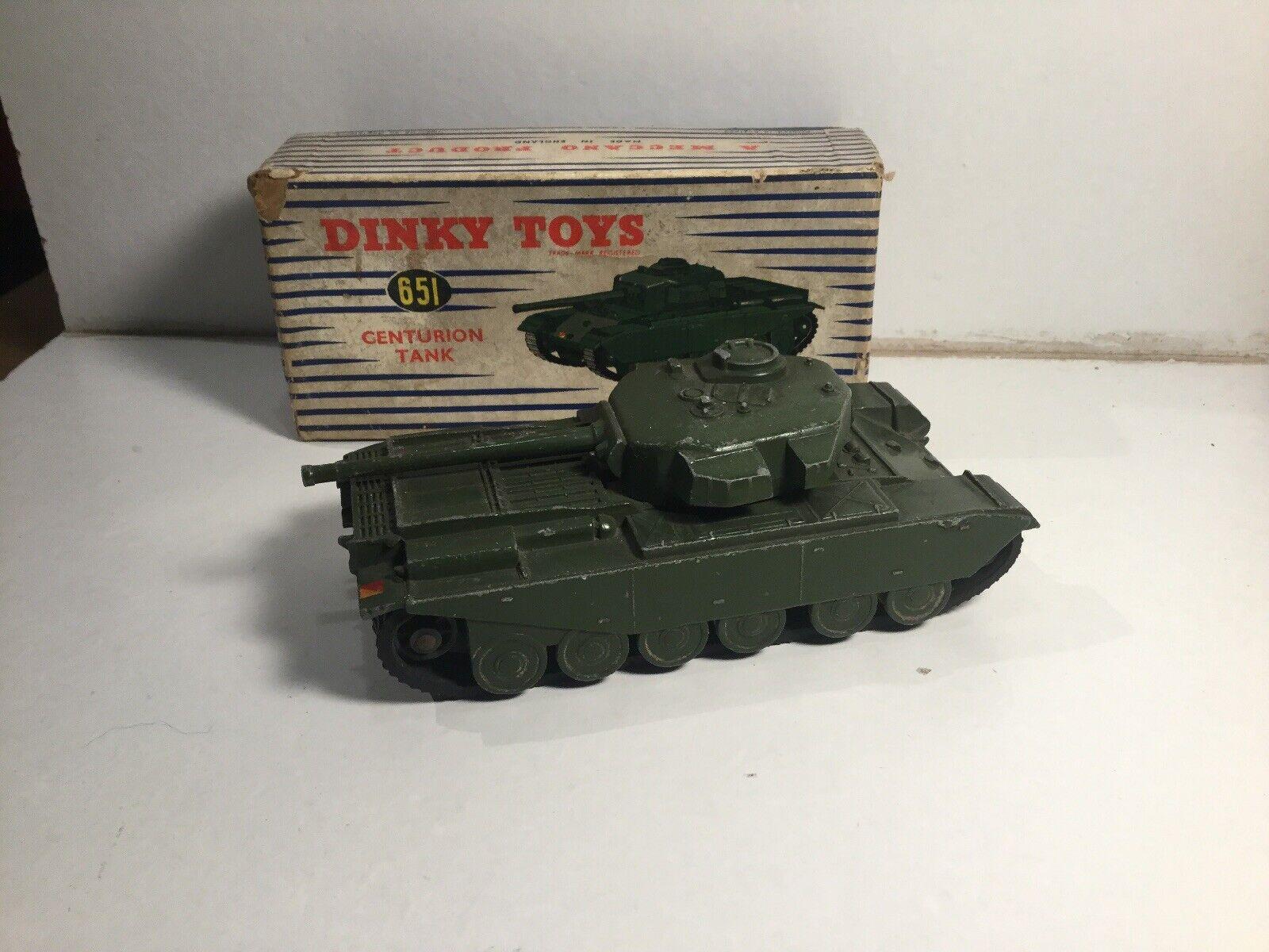Dinky Supertoys 651 651 651 Centurion Tank Within Its Original Box 878763