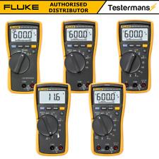 Fluke 113 114 115 116hvac 117 True Rms Digital Multimeters All With Test Leads