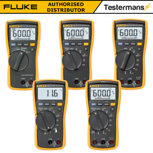 Details about Fluke 113 114 115 116 117 True RMS Digital HVAC Multimeter  with Test Kit Option