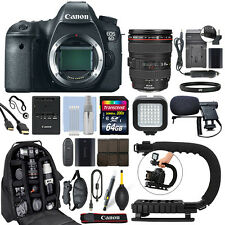 Canon EOS 6D DSLR Camera with 24-105mm f/4L IS USM Lens + 64GB Pro Video Kit