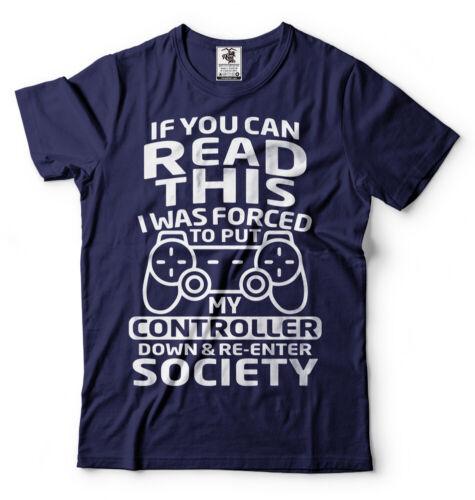 Gaming T-shirt Mens Funny Gamer Shirt Humor Tee Shirt Console gaming shirt