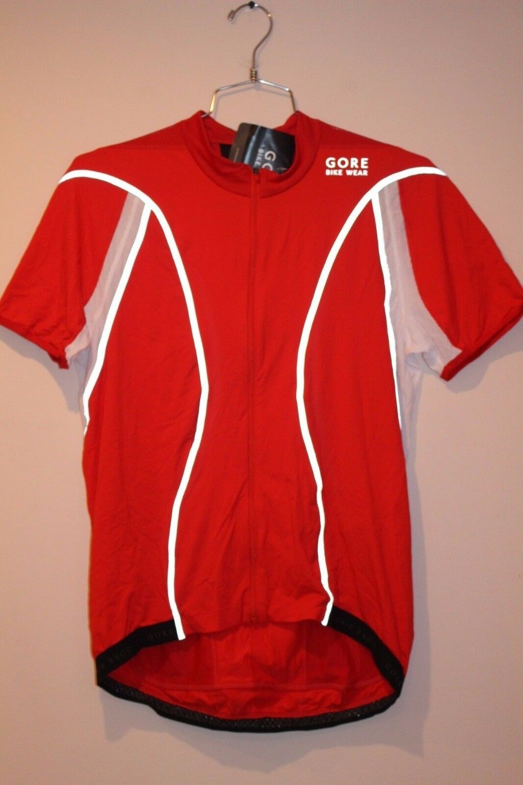 GORE BIKE WEAR Oxygen Reflex FZ Men's Jersey Size XL RED  NEW