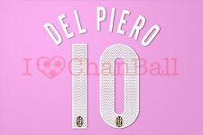 Del Piero #10 2005-2006 Juventus Awaykit Nameset Printing