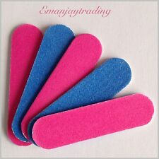 5 Mini Emery Boards/Nail Files, 100/240 Grit Travel/Handbag Size