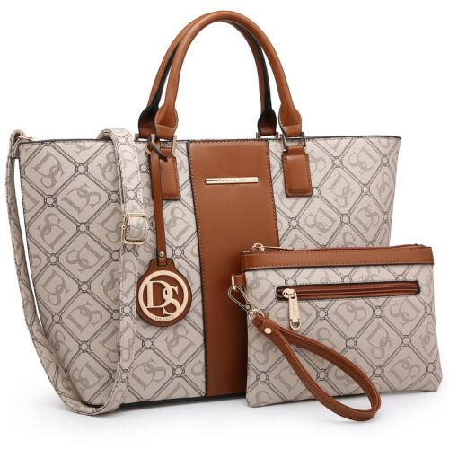Dasein New Women Handbag Faux Leather Shoulder Bag Handbag Satchel w// Purse Tote