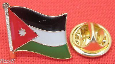Jordan Jordanian Flag Lapel Pin Badge Al-Mamlaka al-Urduniyya al-Hashemiyya