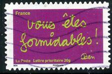 TIMBRE FRANCE AUTOADHESIF OBLITERE N° 620 / SOURIRES PAR L'HUMORISTE  BEN