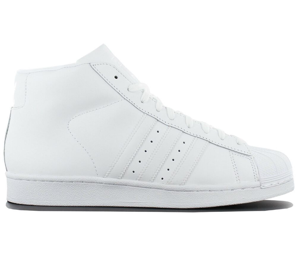 Adidas Superstar Pro Model Homme Sneaker Cuir Blanc Mid Chaussure Basket aq5217-