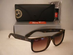 84545ee80d6 Ray Ban 4165 Justin Matte Tortoise w Brown Gradient Lens (RB4165 710 ...