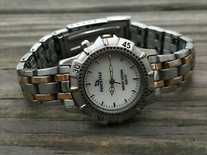 Free Style Ladies Watch Silver/Gold Tone Analog Wrist Watch Water resistant
