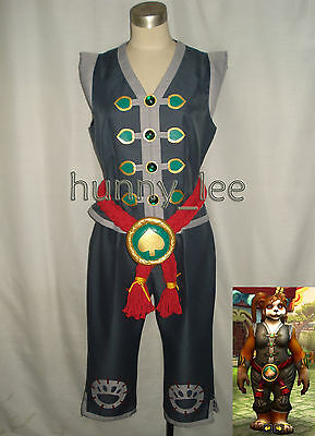Red Pandaren WOW Monk Cosplay Costume Female Version