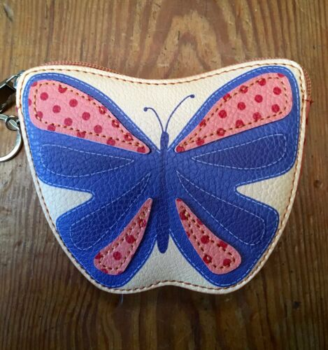 RELIC Caraway Collection Coin Purse /& Key Chain BUTTERFLY  New!