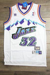 half off 5fb78 2bab8 Details about Karl Malone #32 Utah Jazz Jersey White Throwback White  Vintage Classic New Retro