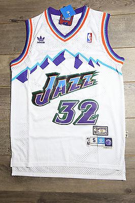 outlet store d5b35 4b8d4 Karl Malone #32 Utah Jazz Jersey White Throwback White Vintage Classic New  Retro | eBay