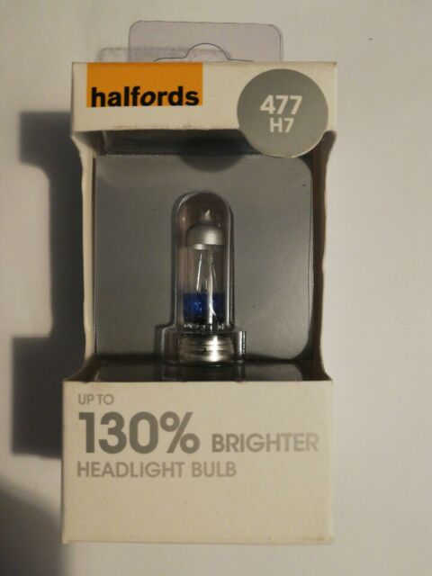 150/% brighter headlight bulb SET 2x NEW Halfords Advanced 477 H7