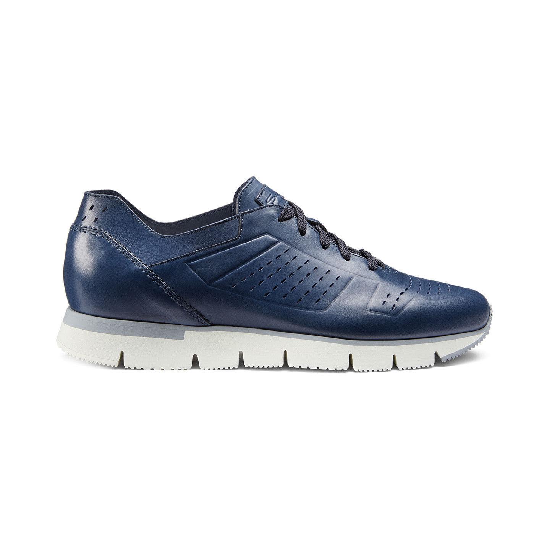 Santoni Sneaker Mann Hyper-mod. aus Leder blau(146SU)