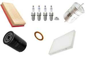 Kit-de-servicio-se-ajusta-Audi-VW-Skoda-Seat-Mann-Filtro-De-Aceite-Combustible-Polen-Aire-Bujias
