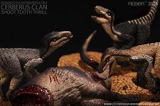 """REBOR 1:35 scale Deinonychus antirrhopus Trio """"Cerberus Clan"""""""