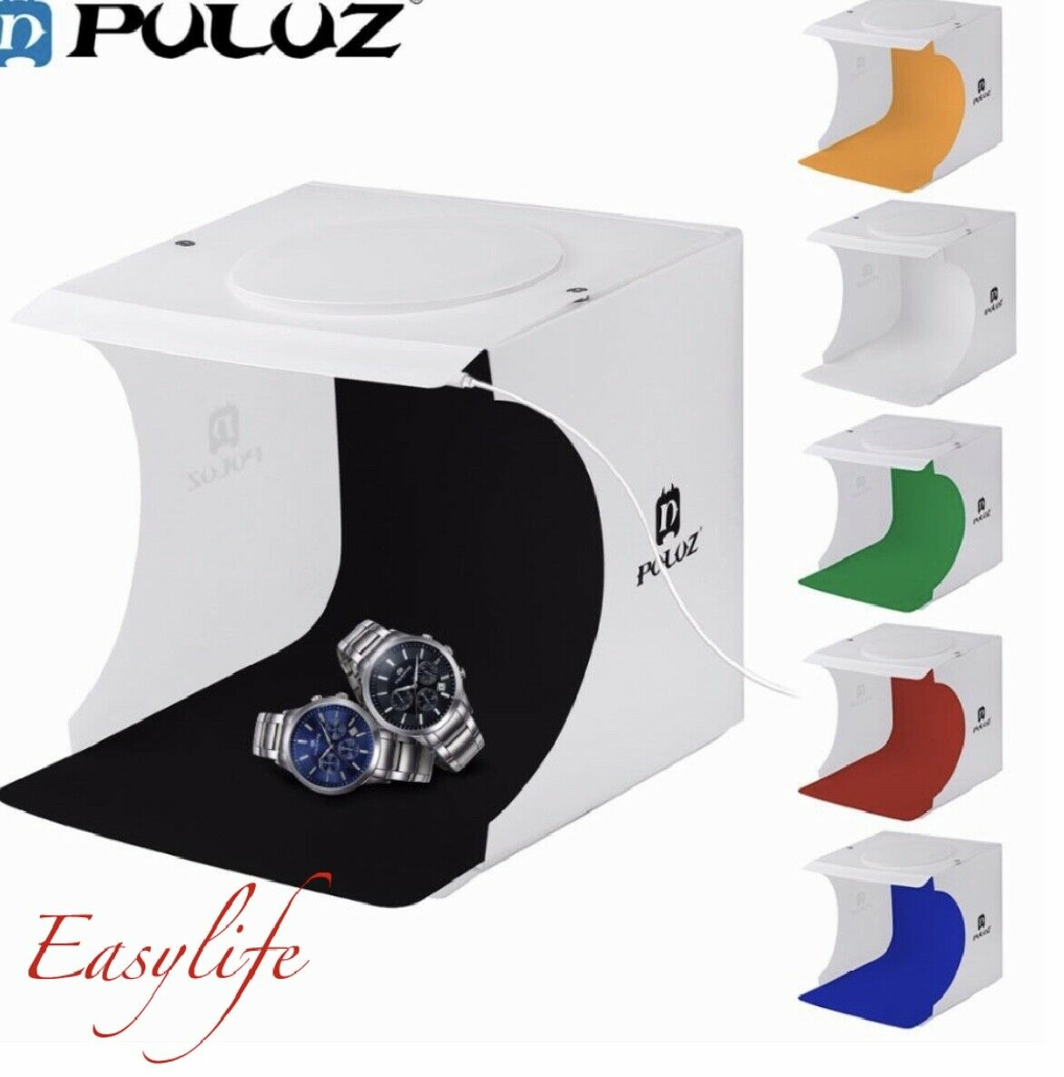 50 x 50cm Foldable Photo Studio Shooting Tent Light Diffusion Soft Box Softbox with 4 Colors Backdrops for Photography