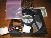 Avc B1225b12m Dc12v,12x12x2.54cm Ball Bearing Fan W/fan Guard, Screw More