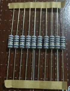 10PCS 1W fuse resistor 10R Europe miniaturizatio<wbr/>n fuse Wound mini 1WS color ring