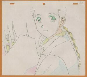 Golden-Boy-Prod-Drawing-Sketch-cel-anime-63-Noriko-with-groceries