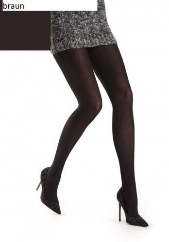 weiche Baumwolle braun glatt gestrickt Oroblu Lindsey Strumpfhose M=40-42