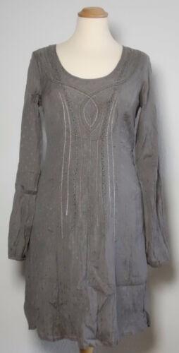 Damen Exklusives 139 Tunika 34 Kleid Gr Cream Grau 95 Np 68pxd8w